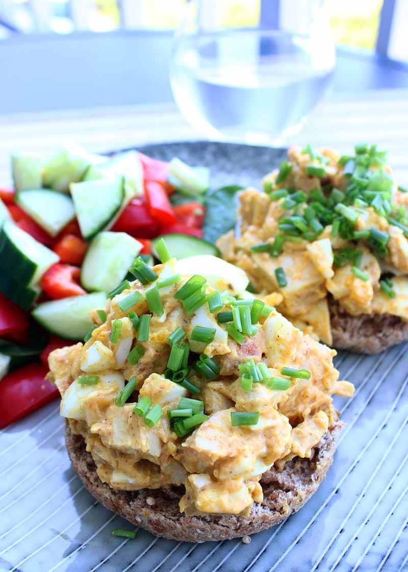 Chicken & Egg Salad sandwich
