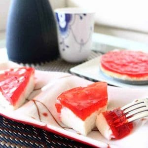 This protein cheesecake really hits the spot when you crave something sweet but healthy. Because it is almost pure protein, it's also a perfect bedtime snack that will leave you satisfied and feed your muscles throughout the night
