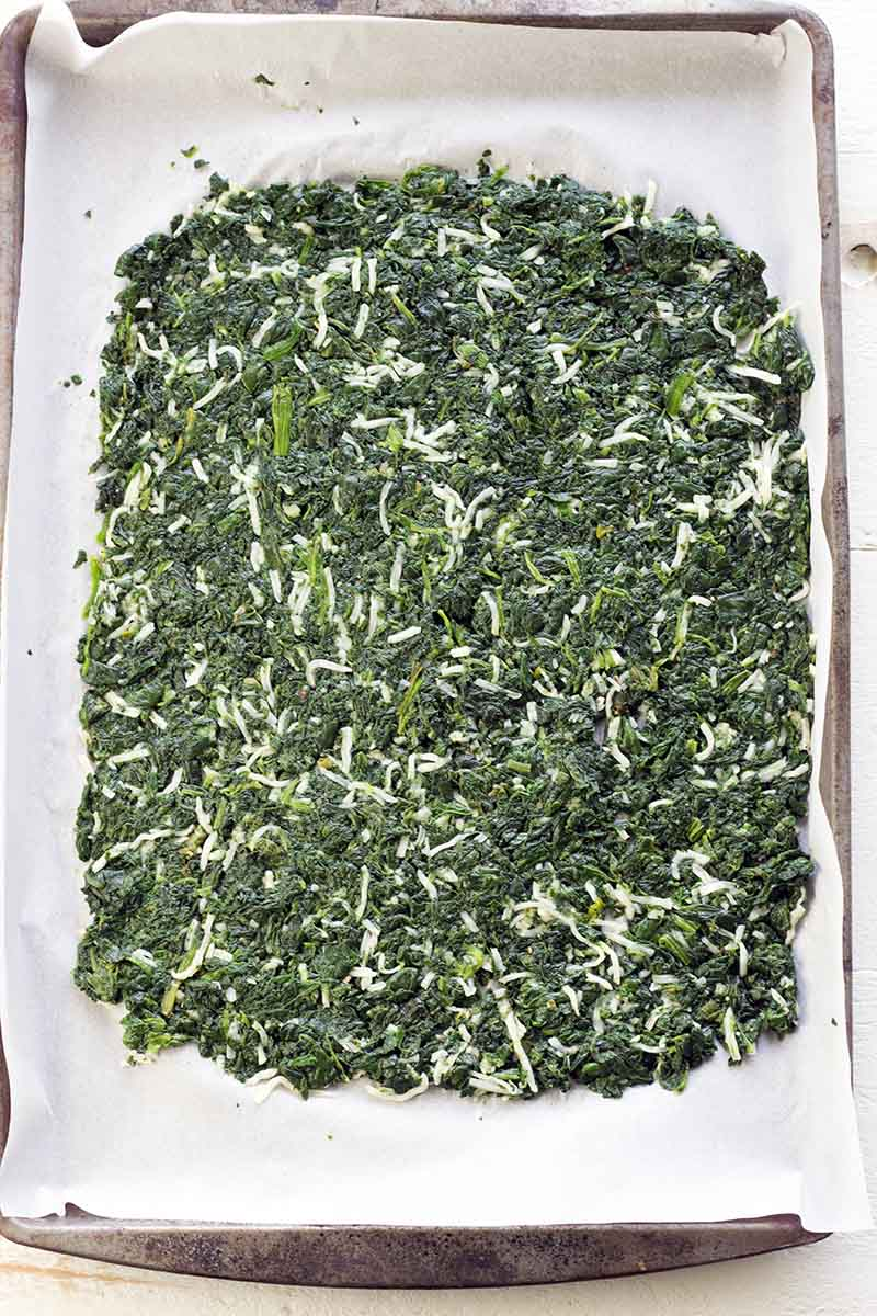 Healthy spinach rolls - step 1