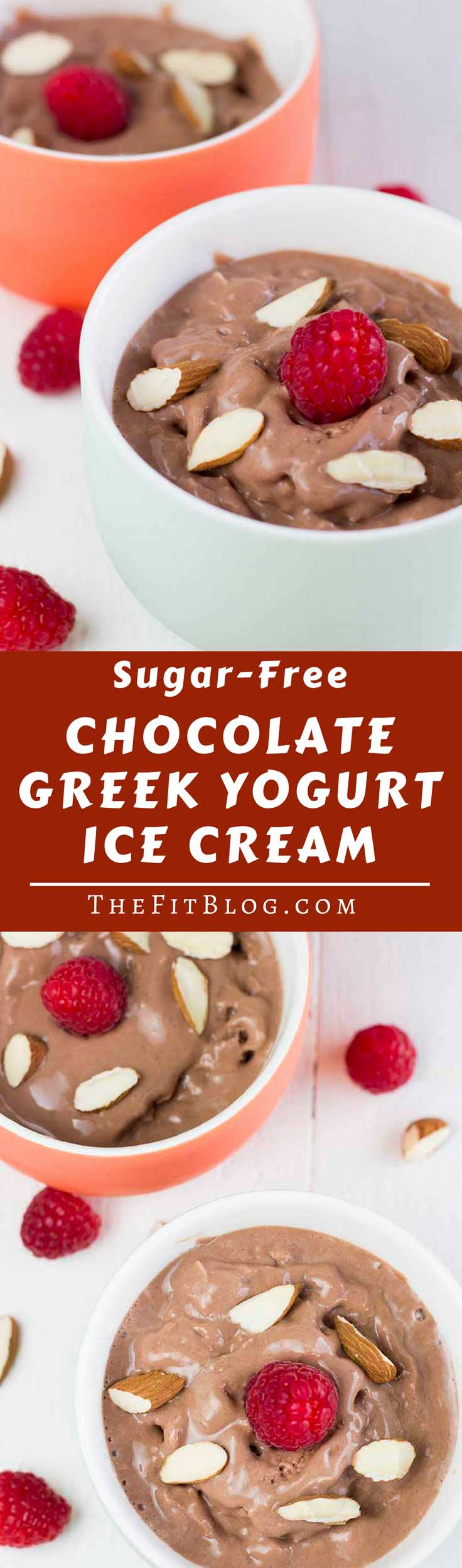 This delicious Low Carb Chocolate Greek Yogurt Ice Cream is high in protein and low in calories. The perfect snack for a hot day or after a hard workout #healthyeating #healthyrecipes #diabetesdiet #diabetesrecipes #diabeticdiet #diabeticfood #diabeticrecipe #diabeticfriendly #lowcarb #lowcarbdiet #lowcarbrecipes