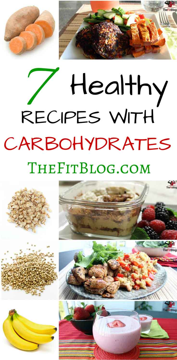 These are my favorite healthy carbohydrates. The recipes include both low glycemic carbs for the main meals and high glycemic carbs for post-workout snacks and shakes.