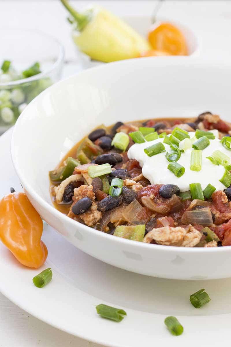 Simple turkey chili