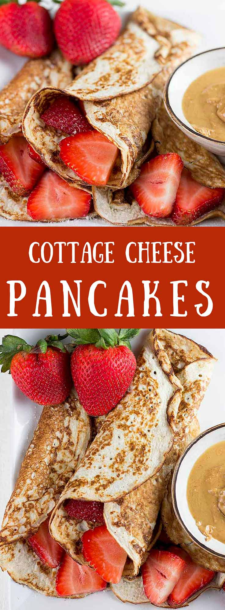 Cottage Cheese Pancakes - With these low-carb, high protein cottage cheese pancakes, you can enjoy America's favorite breakfast without the guilty conscience  | high protein | low carb | sugar free | gluten free | diabetes friendly |