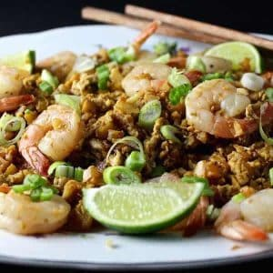 Fried Cauliflower Rice & Shrimp – This is a delicious and healthy low-carb replacement for my favorite rice recipe. It's easy to make and packs a lot of tasty protein!