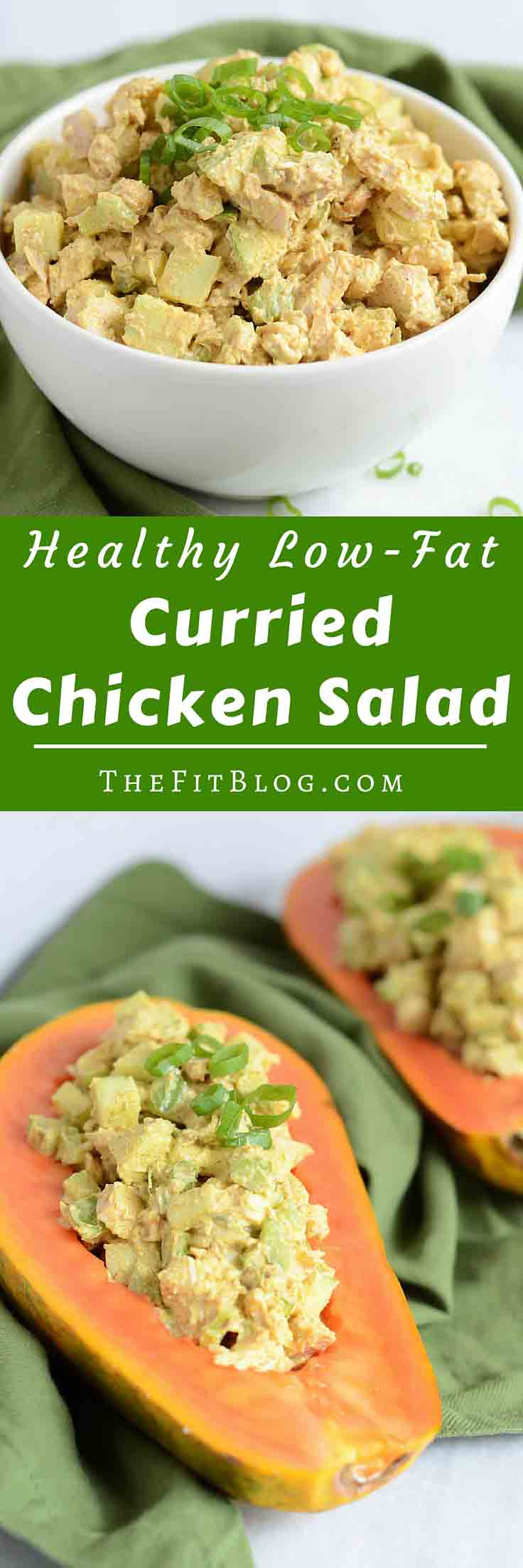 This Healthy Curried Chicken Salad with Apples is a healthier (and tastier) low-fat version of the classic chicken salad.