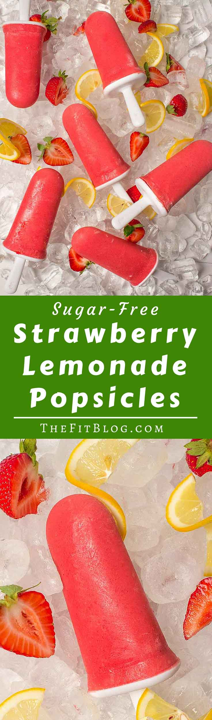 Sugar Free Strawberry Lemonade Popsicles – Nothing is better at fighting the summer heat than these deliciously cool, sugar-free, low-carb, healthy popsicles