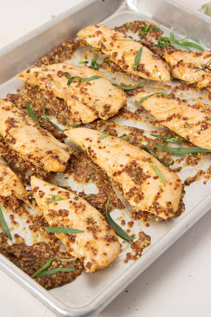 Mustard Baked Chicken Tenders