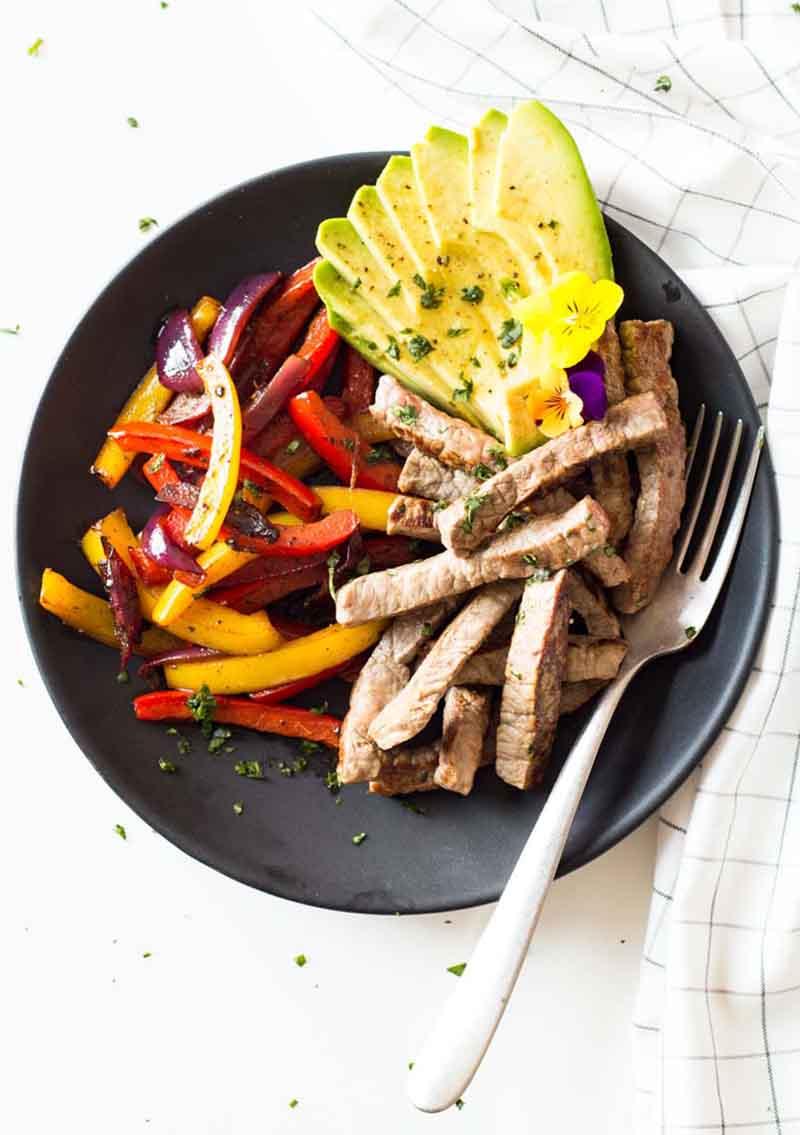Healthy & Easy Beef Fajitas recipe