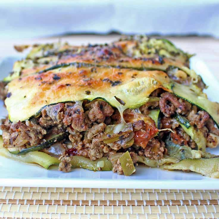 Beef & Zucchini Lasagna