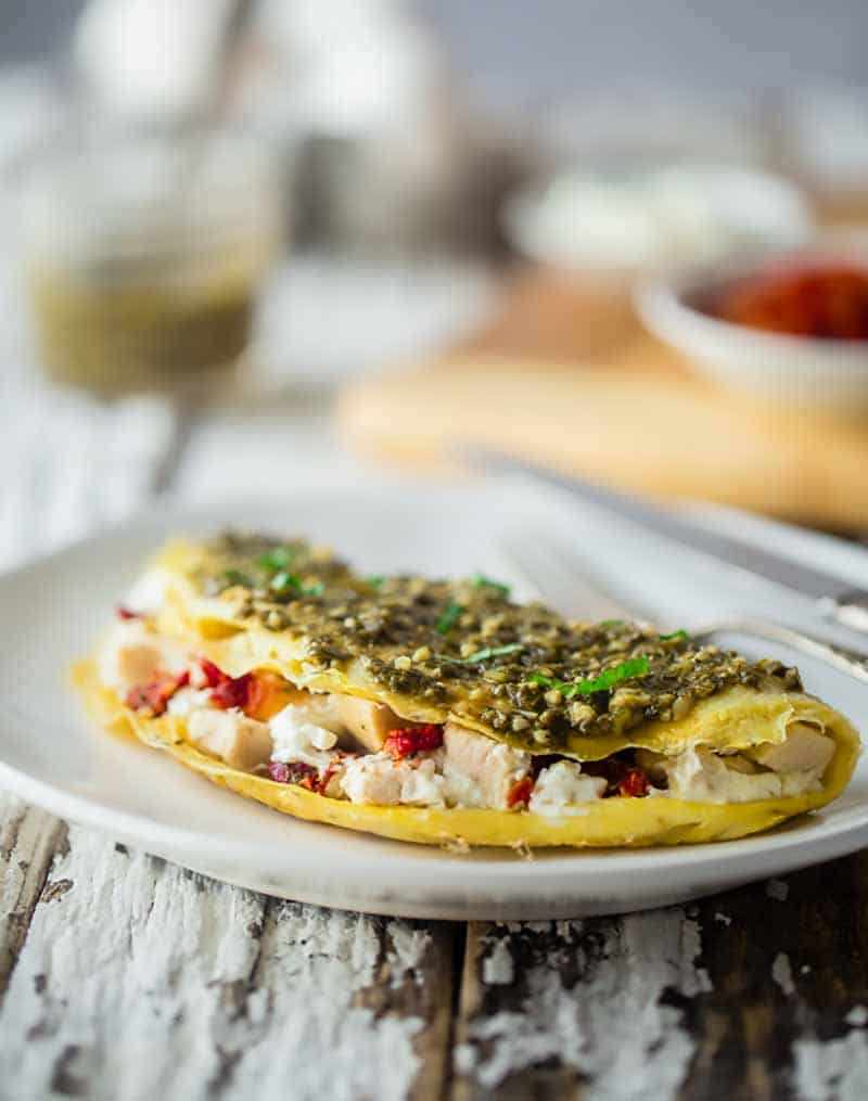 Egg White & goat Cheese Omelette