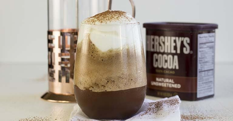 Low-Carb Chocolate Coffee Protein Shake