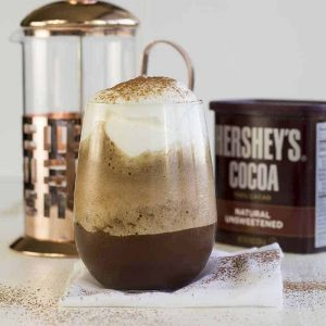Iced Chocolate Coffee Protein Shake (high protein, low carb, gluten free, diabetes friendly, Paleo)