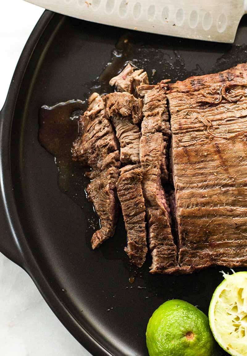 Marinated Flank Steak With Veggies (high protein, low carb, sugar free, gluten free, diabetes friendly, Paleo)