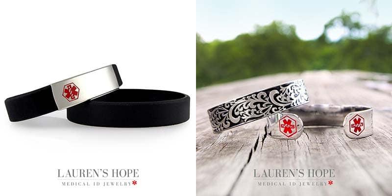 Medical ID Bracelets from Lauren's Hope