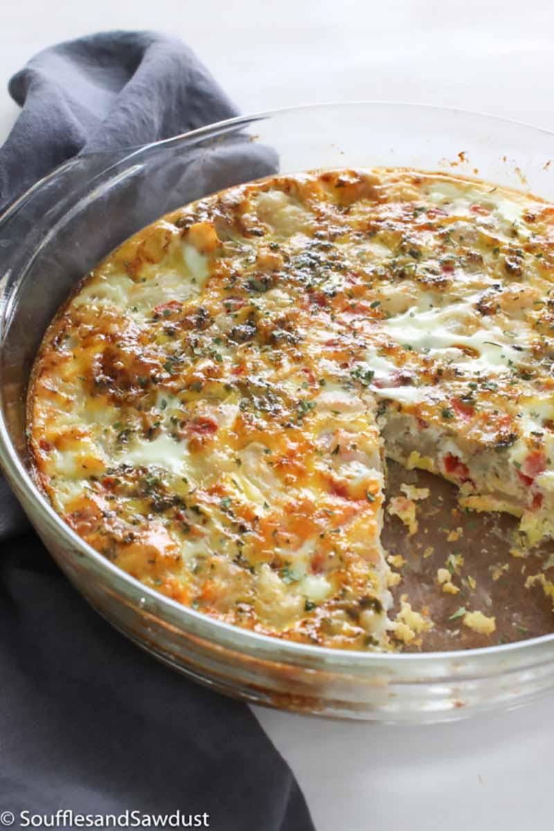 Cumin Cauliflower Quiche