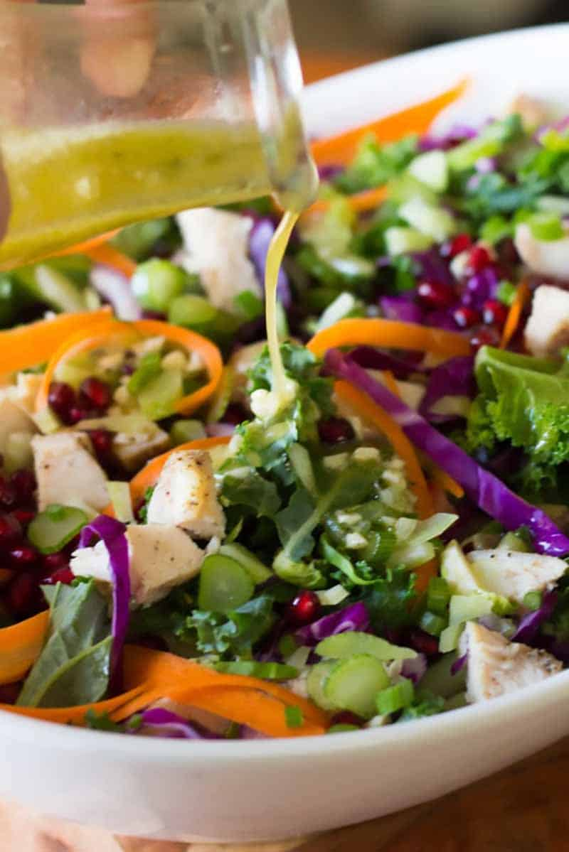 Chopped chicken salad with vinaigrette