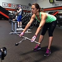 Cable deadlifts