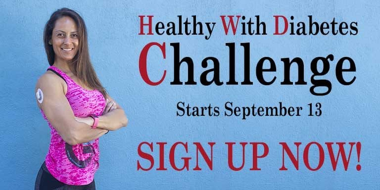 Sign up for the Healthy with Diabetes Challenge