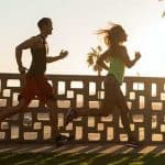 Couple running (fasted cardio with diabetes)