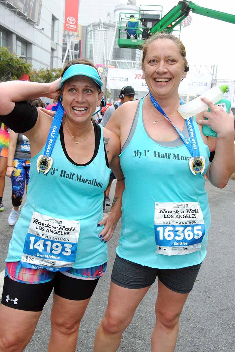 Jennifer and Jenna running